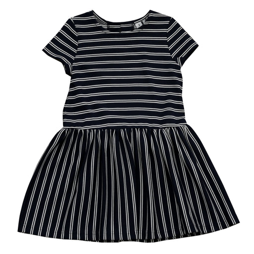 palmer dropwaist dress mult navy stripe