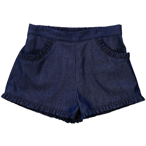 phoebe pocket shorts indigo denim stretch