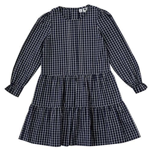 poppy dropwaist dress big navy check