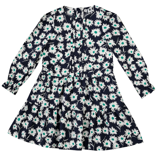 poppy dropwaist dress navy green floral