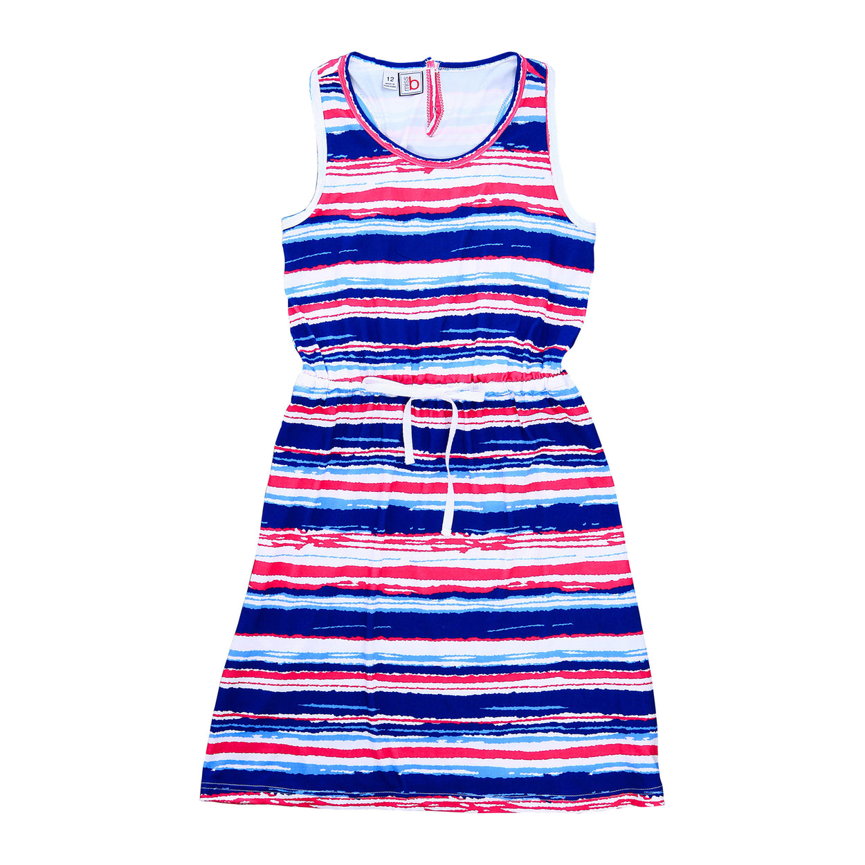 sara racerback dress multi stripe knit