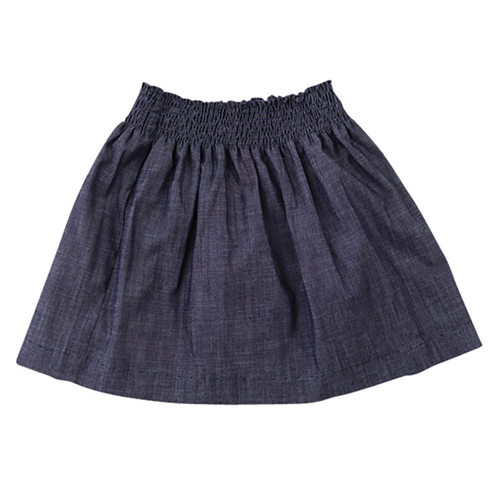kiki smock waist skirt denim