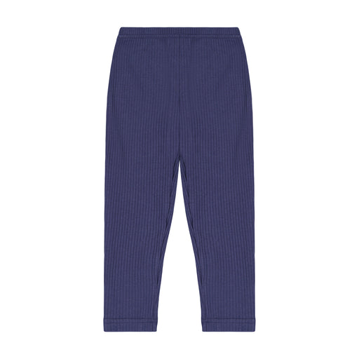 leggings navy ribbed knit