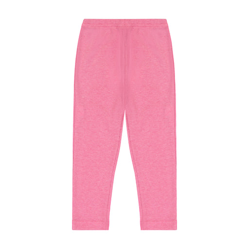 leggings pink ribbed knit