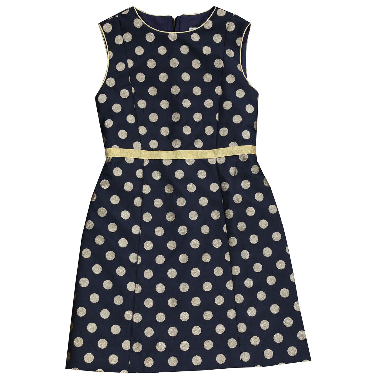 victoria a line shift navy gold dot