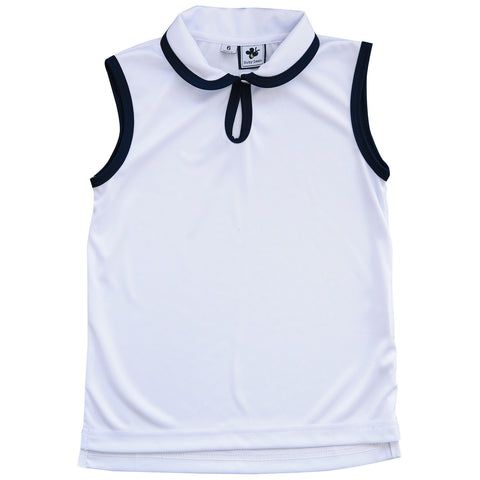 serena sleeveless performance polo white dri-fit