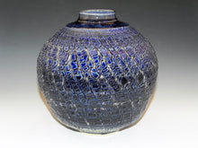 Load image into Gallery viewer, Studio Pottery. Pottery Vase With Original Sodium Silicate Surface Design. High Fired In An Electric Kiln. Handcrafted Home Decor.
