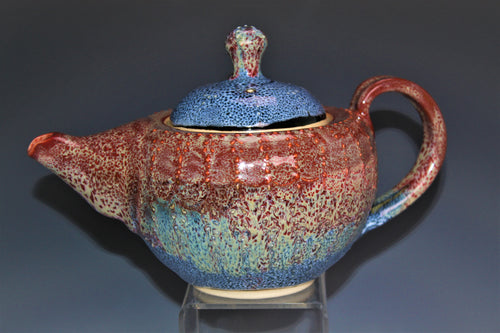 Crimson Oil Spot Pottery Teapot