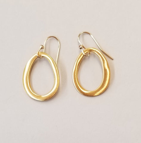 Small Vermeil Ovals Earrings