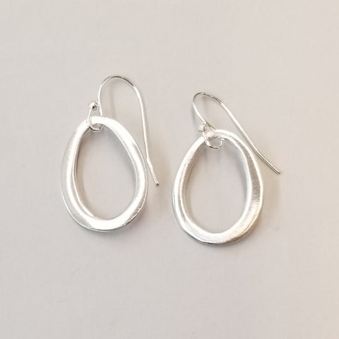 Small Sterling Ovals Earrings