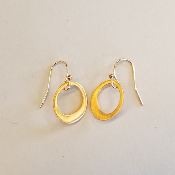 Vermeil Organic Circles Earrings