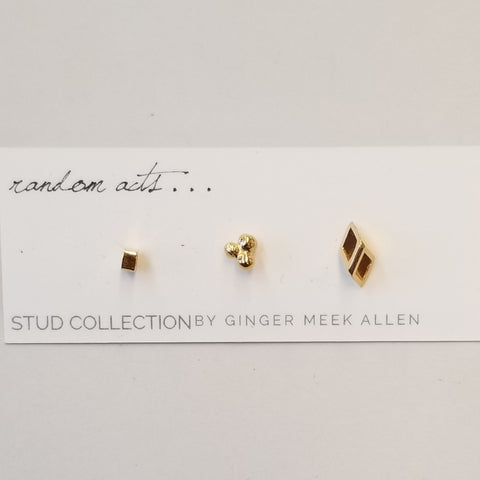 Set of 3 Vermeil Studs