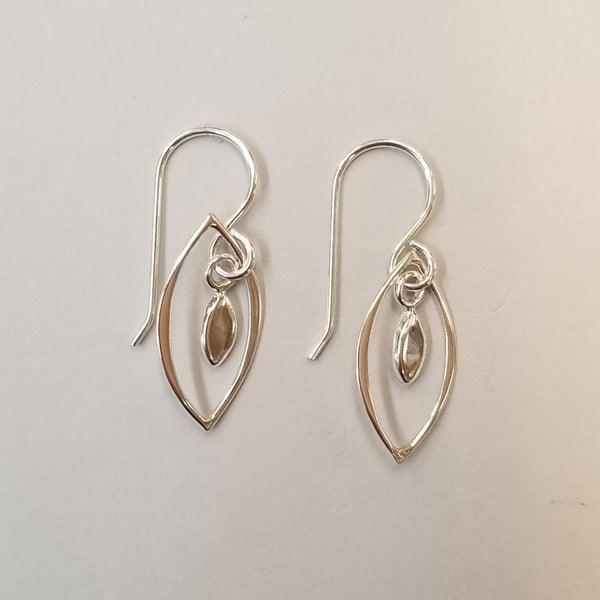 Leaf in Leaf Earrings
