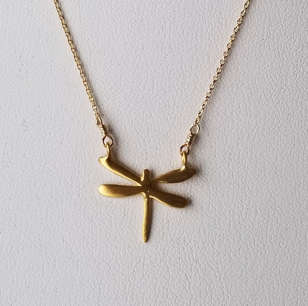 Vermeil Dragonfly Necklace
