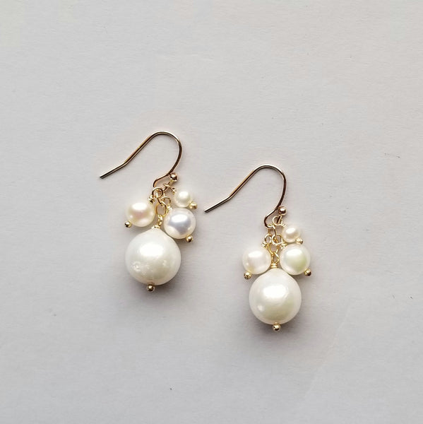 Pearls and Vermeil Earrings
