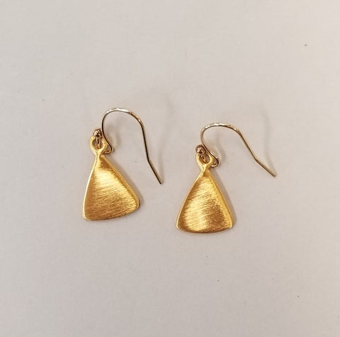 Vermeil Triangles Earrings