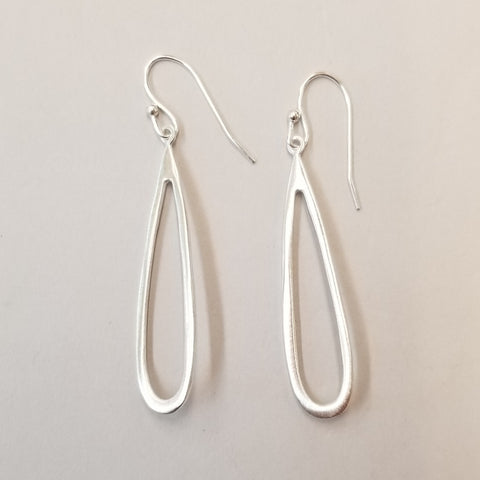 Sterling Open Teardrop Earrings