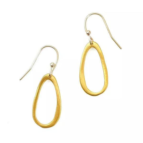 Small Oval Vermeil Earrings