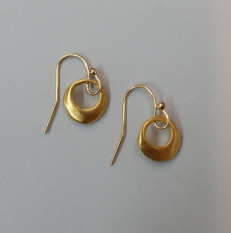 Small Vermeil Ring Earrings