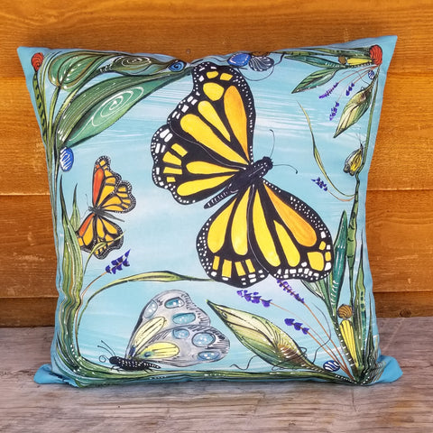 Indoor-Outdoor Pillow - Butterflies