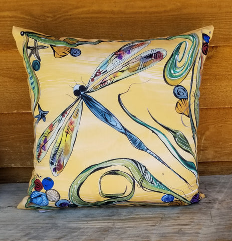 Indoor-Outdoor Pillow - Dragonflies
