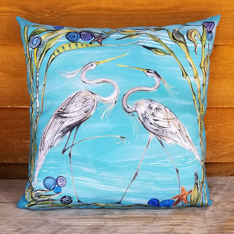 Indoor-Outdoor Pillow - Herons