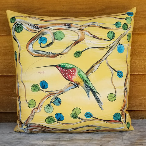 Indoor-Outdoor Pillow - Hummingbirds