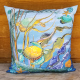 Indoor-Outdoor Pillow - Sea Turtle