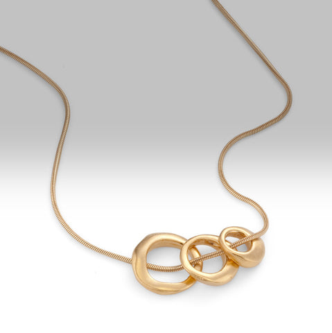 3 Rings Vermeil Necklace