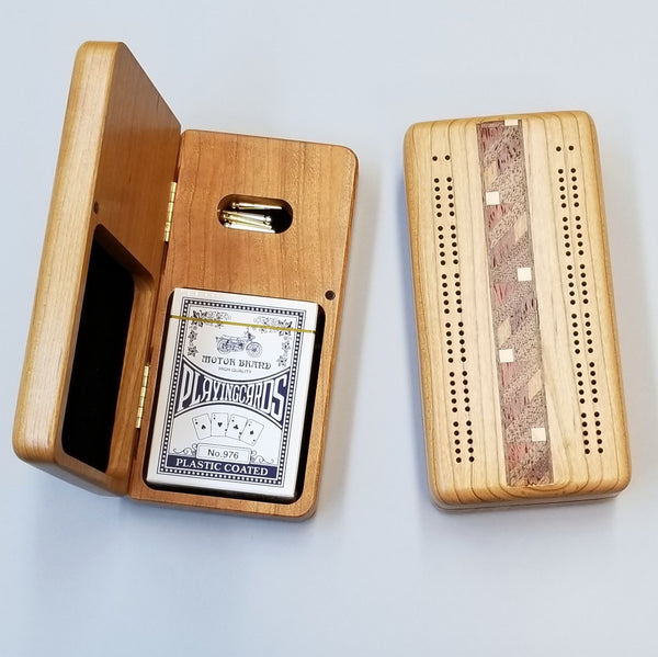 "7"" Cribbage Board w/ Pegs & Cards"