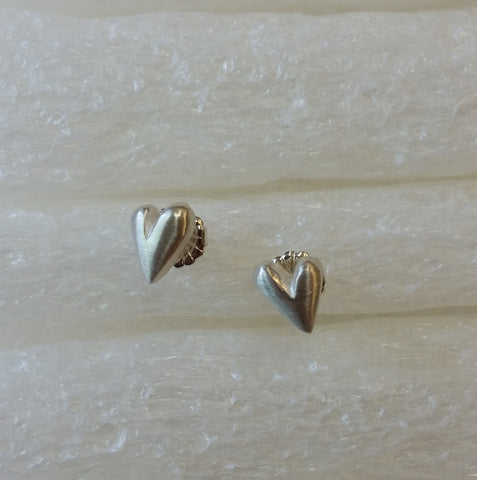 Sterling Silver Hearts Posts