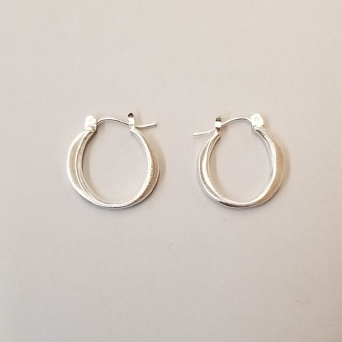 Small Sterling Hoop Earrings