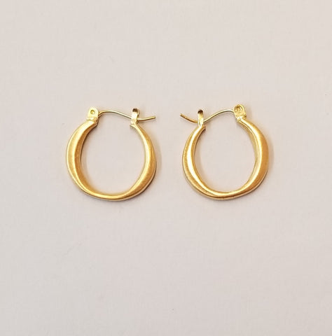 Small Vermeil Hoop Earrings