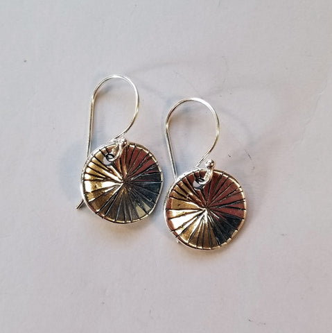 Sterling Disc Earrings