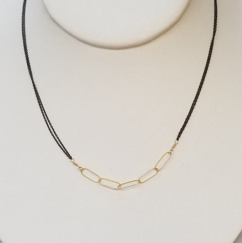 Goldfill Links Necklace