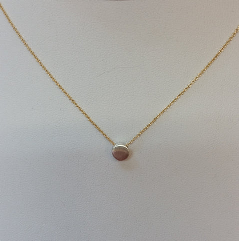 Tiny Sterling Circle Necklace