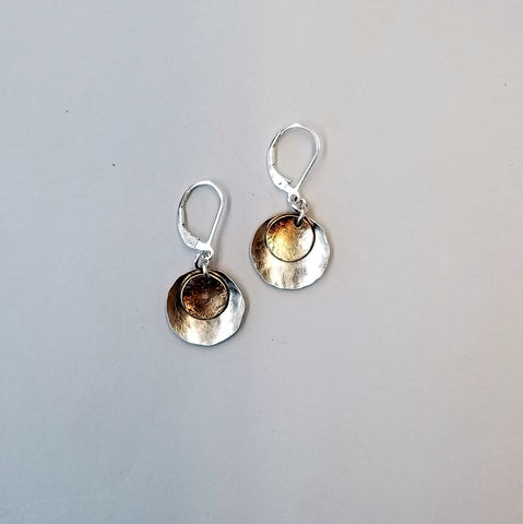 Goldfill Tab in Silver Cup Earrings