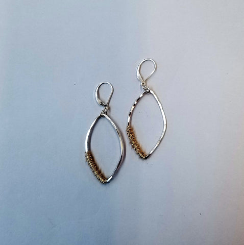 Sterling with Goldfill Wrap Earrings