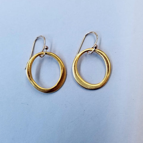 Small Vermeil Circle Earrings