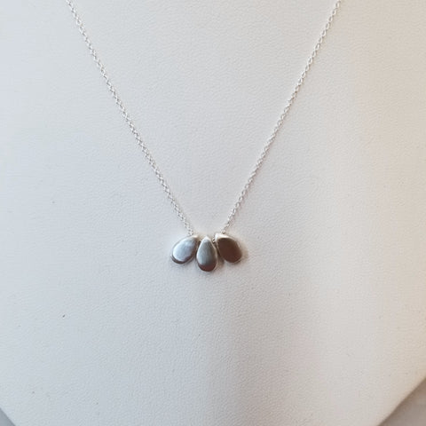 3-Drops Sterling Silver Necklace