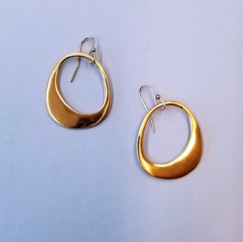 Organic Circle Vermeil Earrings