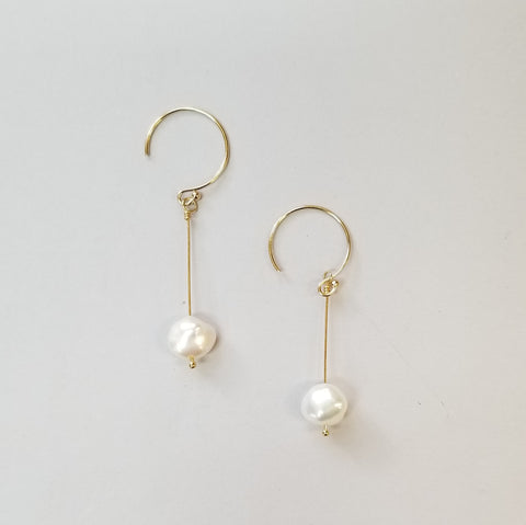 Pearl and Goldfill Earrings
