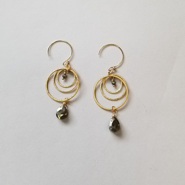 Pyrite and Goldfill Earrings