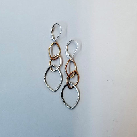 Sterling and Goldfill Links Earrings