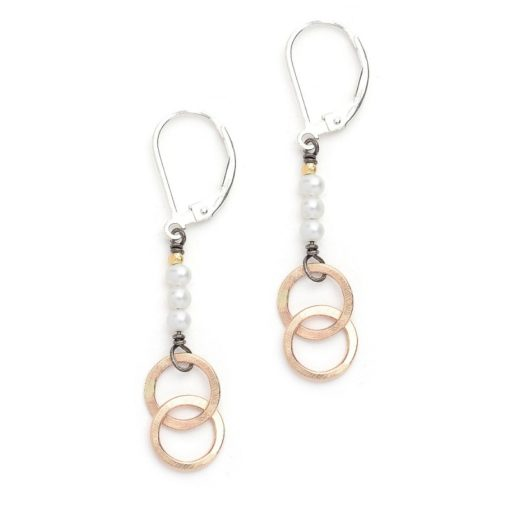 Pearls & Goldfill Rings Earrings