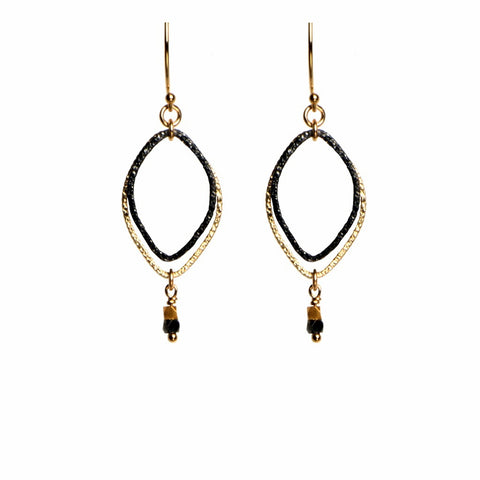 Vermeil & Black Rhodium Earrings