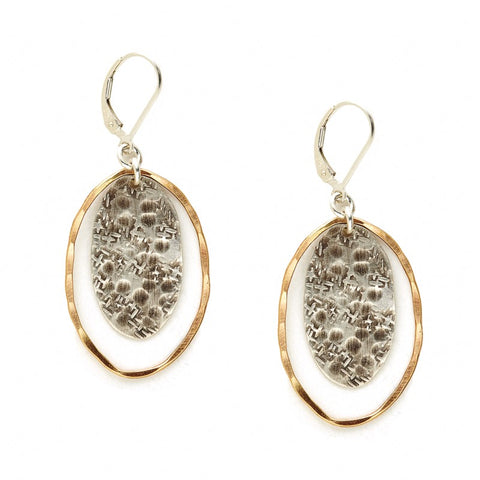 Sterling and Goldfill Ovals Earring