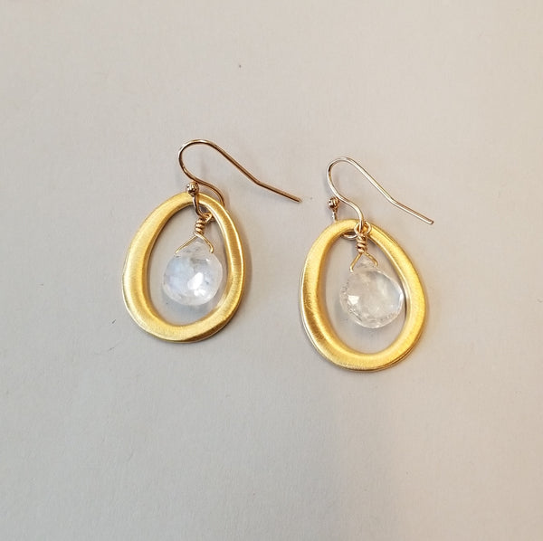 Vermeil & Moonstone Earrings