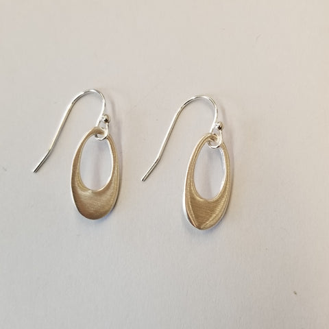 Small Sterling Oval Earrings