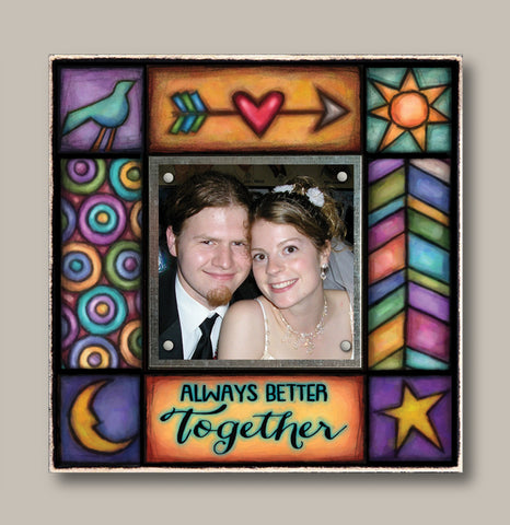 Small Magnetic Picture Frame - 'Always Better Together'